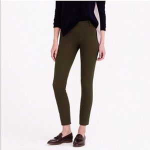 J. Crew Minnie Pant in stretch twill Olive size 8